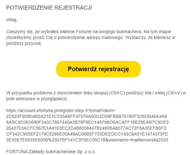 potwierdzenie rejestracji